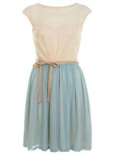 #white tee #mint skirt #light blue skirt #ribbon belt #sweet #spring #summer #casual