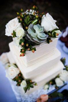 Wedding Cake - Interesting Use of Succulents