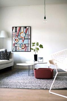 Via Evita Lehti | White Grey Red | Bertoia | Muuto | By Lassen
