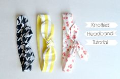 Knotted Headband Tutorial + More! // lemon squeezy home