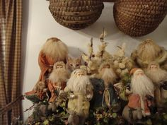 Munchie hiding among the Santas.