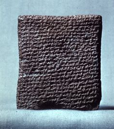 Clay cuneiform tablet; letter from Rib-Adda to the king (of Egypt); 63 lines.