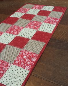 Quilted Winter/Holiday Table Runner country by WarmandCozyQuilts, $50.00
