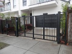 Trackless Iron fence with Automatic Gate http://www.pinterest.com/avivbeber3/iron-fences/