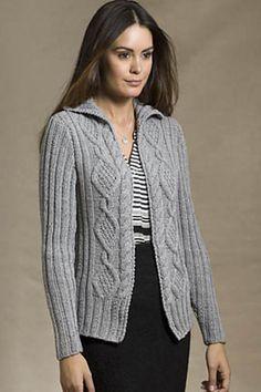 Ravelry: Foro Romano Cabled Cardigan pattern by Teresa Chorzepa