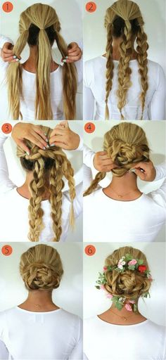 Braids are so much fun! You can style your hair with different braided hairstyles updos, half hair braid, braided long hairstyles and more! Have fun!