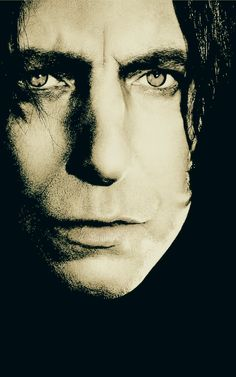 Severus Snape/Alan Rickman. I want this on a poster.