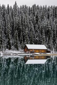Boathouse by Erik McRitchie (Lake Louise, Banff, Alberta )