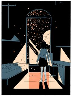 """comics """"On a Sunbeam,"""" the Sci-Fi Comic That Reimagines Utopia Stephanie Burt writes about Tillie Walden's sci-fi comic """"On a Sunbeam"""" Kunst Inspo, Art Inspo, Art And Illustration, Aesthetic Art, Aesthetic Anime, Arte Indie, Character Design Cartoon, 3d Character, Character Concept"""