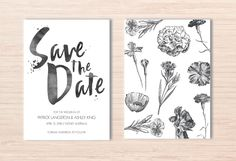 Botanical Save the Date ~ Botanical Invites ~ Hand Painted Invite ~ Hand Written Invite ~ Garden Save the Date ~ Watercolour Save the Date by LoveStoryInvitations on Etsy https://www.etsy.com/au/listing/491759893/botanical-save-the-date-botanical