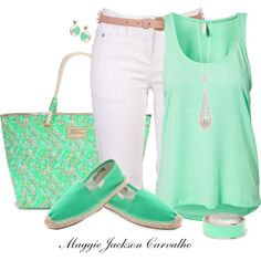 """""""Lilly Pulitzer Shoreline Tote"""" by maggie-jackson-carvalho on Polyvore"""