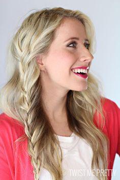 Vertical Lace Braid Tutorial | Twist Me Pretty #hairstyles #hair #longhair