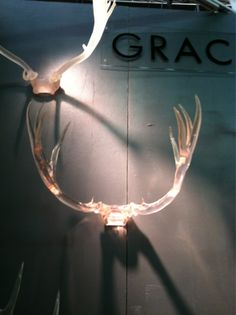 Resin antlers from Grace & Blake