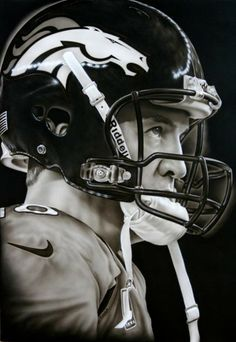 Painting of Peyton Manning by artist  Jimmy Conca