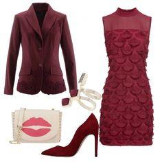 710f4b16c40a Serata romatica in bordeaux  outfit donna Bon Ton per serata fuori