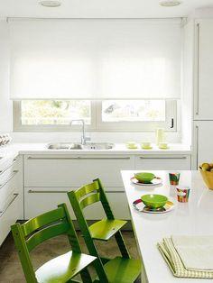 Ventanas en frente del fregadero en la cocina ¡Se ven increíbles! | Decoración