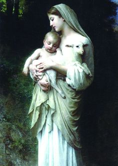 Glossy full-color print of the The Innocence image suitable for framing. Image is from a turn-of-the-century painting by William Adolphe Bouguereau A Full of Grace USA Original Product Printed on Ster