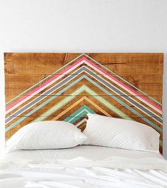 As the weather cools down, the urge is to spend a few more weekend mornings cozied up under the covers. So why not refresh your bedroom with a warm wood headboard? Here are some creative and rustic headboards you can buy or DIY.