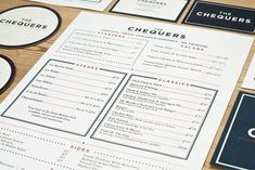 Beautiful Restaurant and Coffee Shop Menus | The Chequers