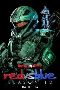 Carolina and Epsilon Season 13 poster Fandom Games, Red Vs Blue, Diy Resin Art, Rooster Teeth, Team Fortress 2, My Ride, Rwby, Red Roses, Pokemon