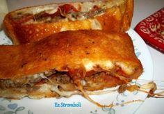 ~ My Way Recipe   ~ Ez Stromboli   Uses Ground beef, Pepperoni, and Sausage