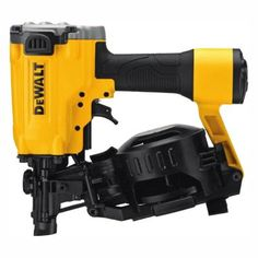 The DEWALT DW45RN Coil Roofing Nailer is ideal for asphalt shingle roofing applications. This nailer increases your roofing productivity by allowing you to shoot 120 nails before reloading for maximum efficiency. Coil collated nails are compact and easy to load. Its ergonomic design is lightweight for easy handling. Coil Nailer, Roofing Nailer, Asphalt Roof Shingles, Roofing Companies, Nail Gun, Cool Roof, Engineered Hardwood Flooring, Air Tools, Home Depot