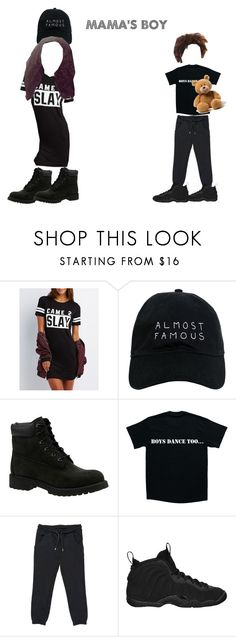 """""""Mama's Boy"""" by briellejones on Polyvore featuring Charlotte Russe, Nasaseasons, Timberland, MSGM and NIKE"""
