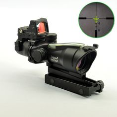 ACOG Style 4X32 Fiber Source Green Illuminated Scope w/ red dot