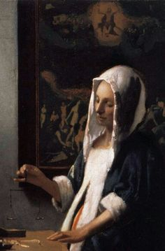 VERMEER, Johannes Woman Holding a Balance, detail. 1662-63 Oil on canvas, 42,5 x 38 cm National Gallery of Art, Washington