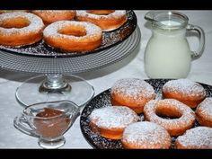 Reteta Gogosi pufoase (reteta video)   JamilaCuisine Sweets Recipes, Cooking Recipes, Desserts, Romanian Food, Romanian Recipes, Beignets, Doughnut, Panna Cotta, Homemade