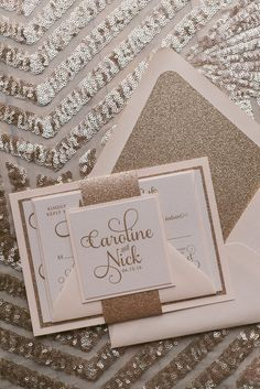 ADELE Suite // STYLED // Fancy Glitter Package , blush and gold, gold glitter, wedding invitations