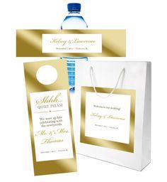 $70 for 20 #wedding #welcomebag sets, including bags with #stickylabel applied, #doorhanger #waterbottlelabel by #bestwelcomebags http://www.bestwelcomebags.com