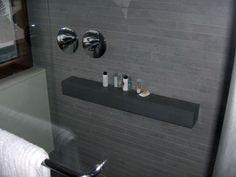 caesarstone shower shelf