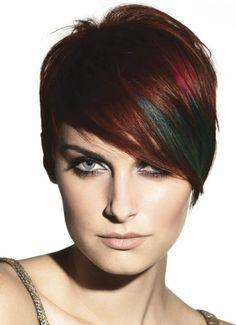 Corto multicolor con hairchalck