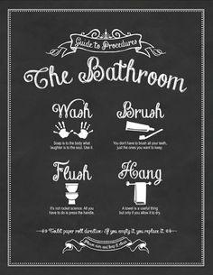 Guide to Procedures Bathroom Print