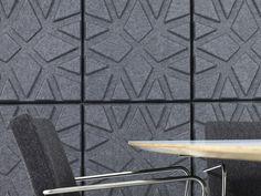 Paneles acústicos decorativos en fibra de poliéster GEO by Offecct diseño Ineke Hans
