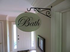 Items similar to Bath Sign Hallway Sign Shabby Chic French Country Bath Office Laundry Sign on Etsy Shabby Chic Hallway, Add A Room, Mint Green Walls, French Signs, Country Baths, Bath Sign, Vintage Shabby Chic, House Rooms, Decoration
