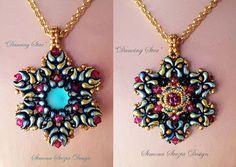 "TUTORIAL ""Dancing Star"" double-face pendant with zoliduo beads. ©Simona Svezia Design  Available on my Etsy shop: https://www.etsy.com/it/shop/PerlineeBijoux  Facebook page: https://www.facebook.com/simona.svezia.design/"