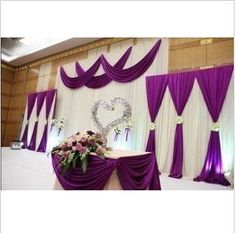 Purple wedding stage decorations backdrops 2015 new arrival . Wedding Ceremony Ideas, Wedding Stage, Wedding Backdrops, Purple Wedding, Wedding Colors, Dream Wedding, Gold Wedding, Stage Decorations, Wedding Decorations