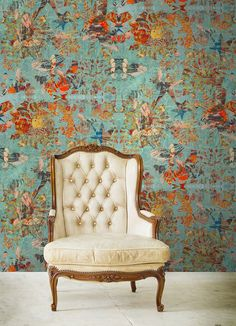 These breath taking wallpapers and fabrics have been designed in a collaboration between Blackpop and the National Portrait Gallery London UK. Blackpop has created wallpaper and fabric designs in responce to the National Portrait Gallery's The Real Tudor Collection. Blackpop's abstract wallpaper and fabric design deconstructs paintings of Henry V111, Mary 1 & Elizabeth 1.