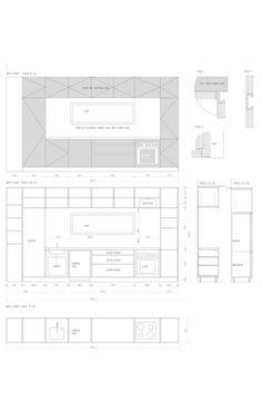 Modern Kitchen Elevation galley kitchen design layout. #kitchen #galleykitchen | dom