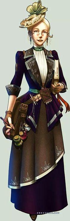 steampunk lady--my next costume