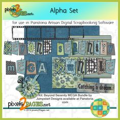 Learn how to use alphasets for Digital Scrapbooking Layouts from pixels2Pages.net. For use in Artisan by Panstoria digital scrapbooking software. Kit by Jumpstart Designs. Scrapbook Software, Digital Scrapbooking Layouts, Photo Book, Artisan, Crafty, Kit, Learning, Design, Studying