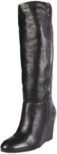 I need a pair of cute black leather boots...wedges would ensure that my face wouldn't meet concrete often