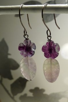 Bloomin' fluorite - translucent purple flowers, green-clear-purple leaves. Now, that's some kind of pretty:-)