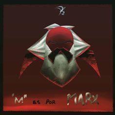 Dia 13 M: Marx  Le llego su dia a la burguesia el caballero del proletariado asciende. :v  #36daysoftype #36day_m #tipografia #typography #draw #draw #drawingoftheday #ilustration #digitalart #monster #demon #creepy #terror #aberration #cute #timburton #disney #doodle #dailydoodle #elsalvador #villain #devil #demon #christmas #horror #hell #batman #lol #wtf by thedeathsrose