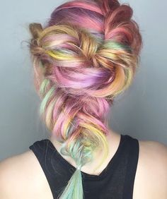 Rose Gold Rainbow!  Hair by: @chitabeseau  #Mermaidians  by mermaidians