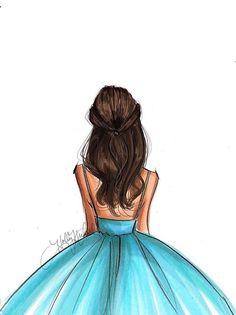 Best Friend Drawings, Girly Drawings, Cool Art Drawings, Easy Drawings, Girl Drawing Sketches, Cute Girl Drawing, Cartoon Kunst, Cartoon Art, Art And Illustration