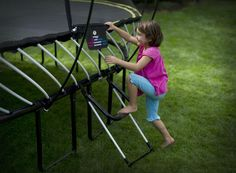 Kids of all ages can enjoy having a trampoline in the backyard!