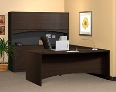 Brighton Series U-Shape Exec/Comp Desk with Hutch